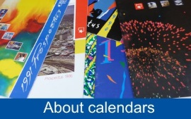 A photo of various antecedent institutions' calendars.