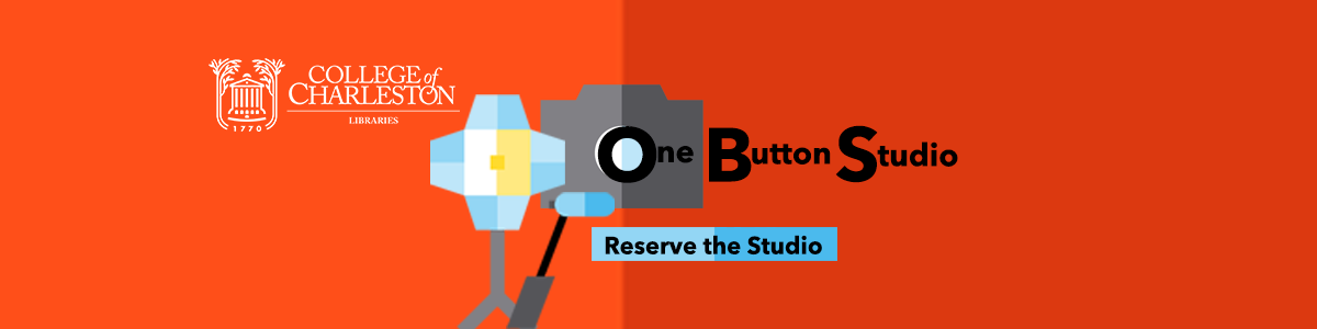 One Button Studio Banner Image with hyperlink to Room Booking Calendar