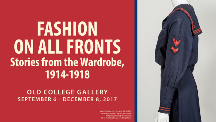 Fashion on All Fronts - Exhibit Flyer