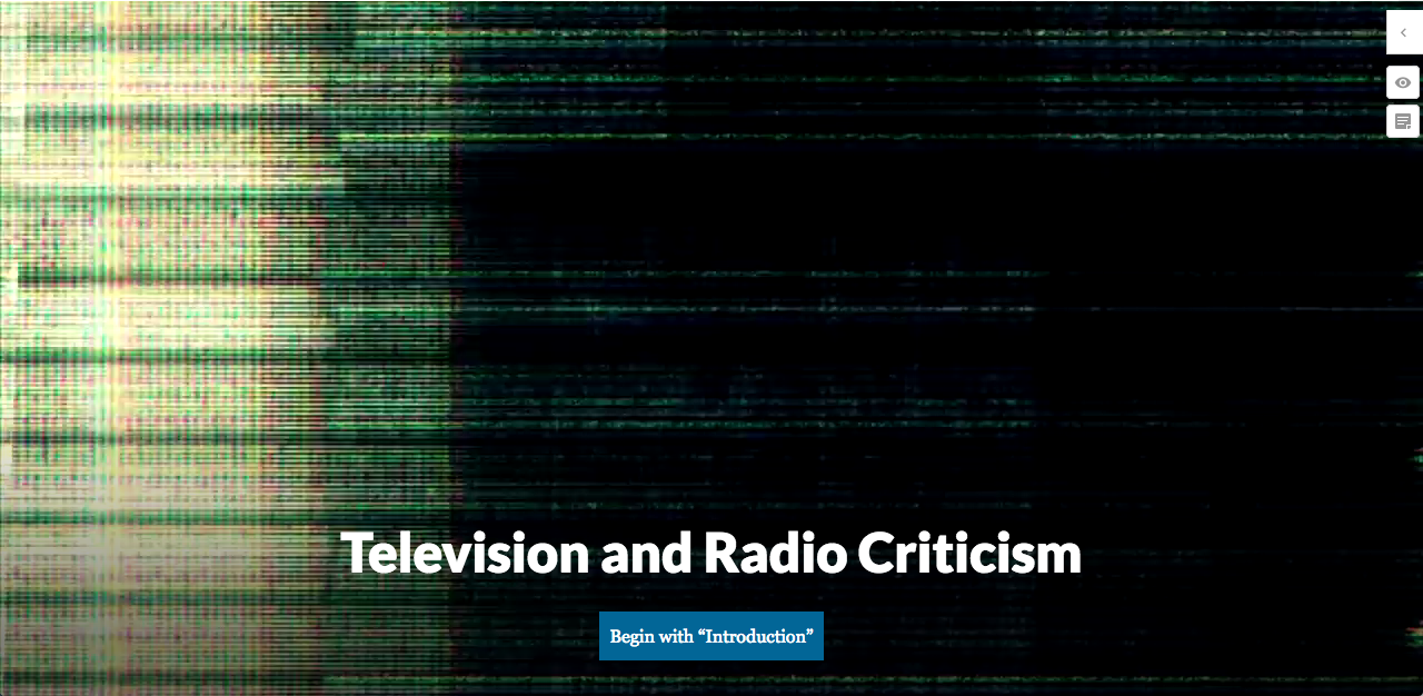 Television and Radio Criticism