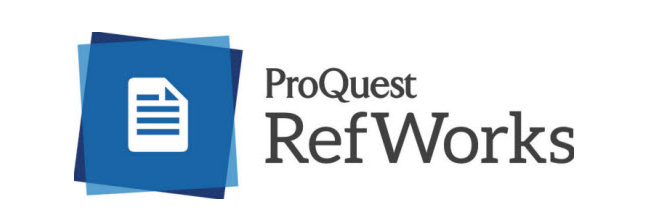 Screenshot with the a blue logo and the text ProQuest RefWorks.