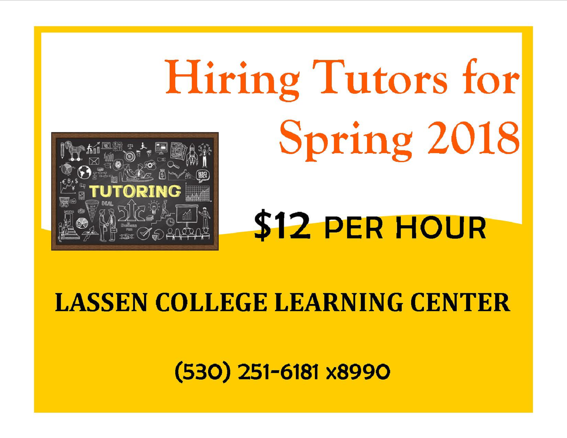 Hiring Spring 2018 Tutors