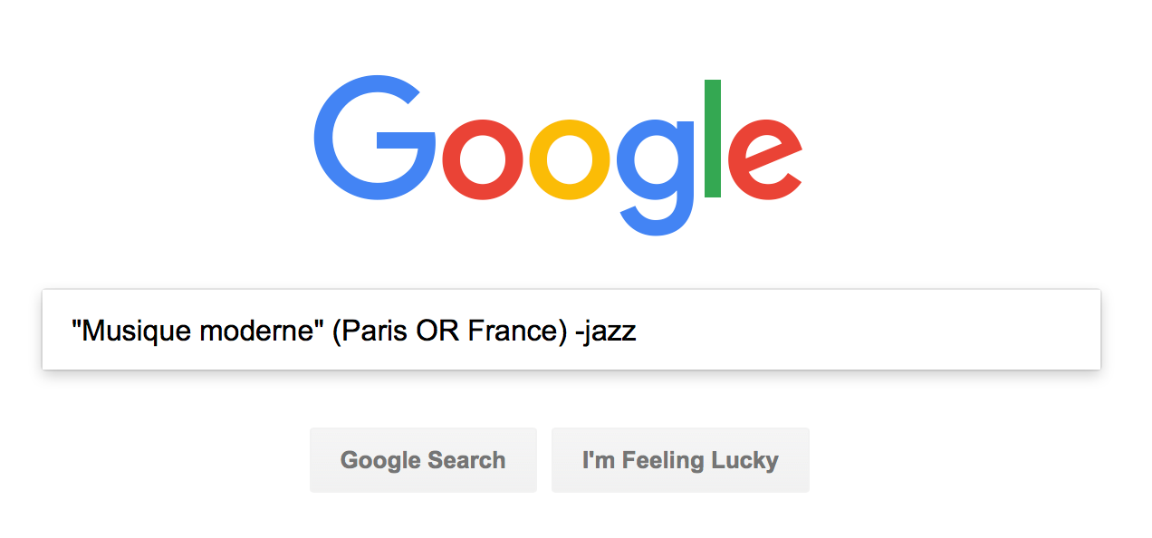 "Google search for ""Musique Moderne"" AND (Paris OR France) NOT Jazz"
