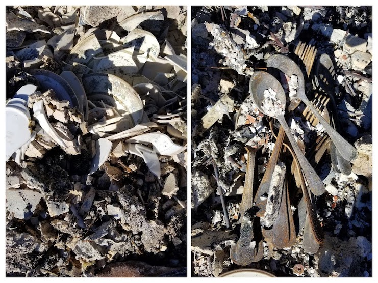 Alicia's Flatware in the Ashes