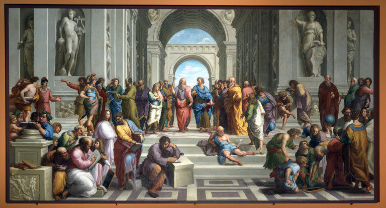 School of Athens painting, by Raphael