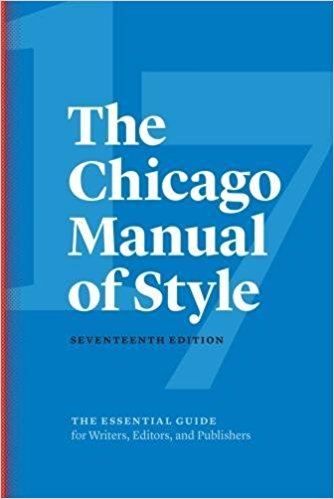 The Chicago Manual of Style 17th Edition
