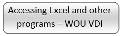 Accessing Excel and other programs WOU VDI