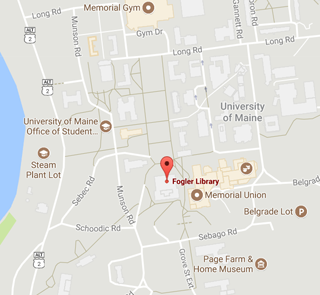 Library and surrounding area on campus map