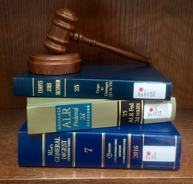 Gavel Resting on Law Books