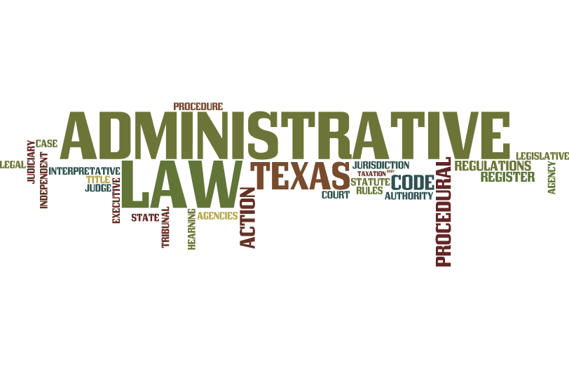 Texas administrative law wordle image