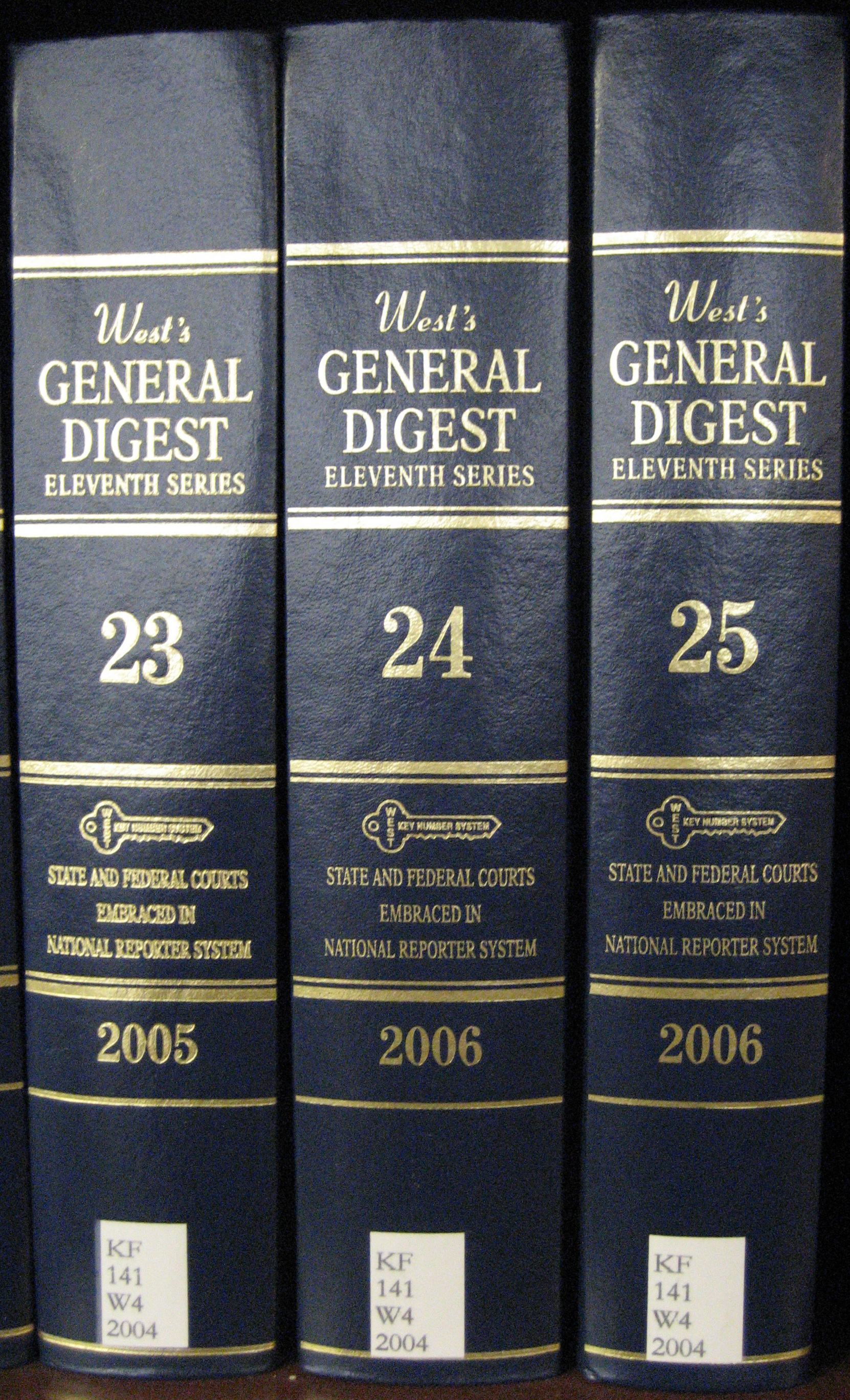 West's General Digest books