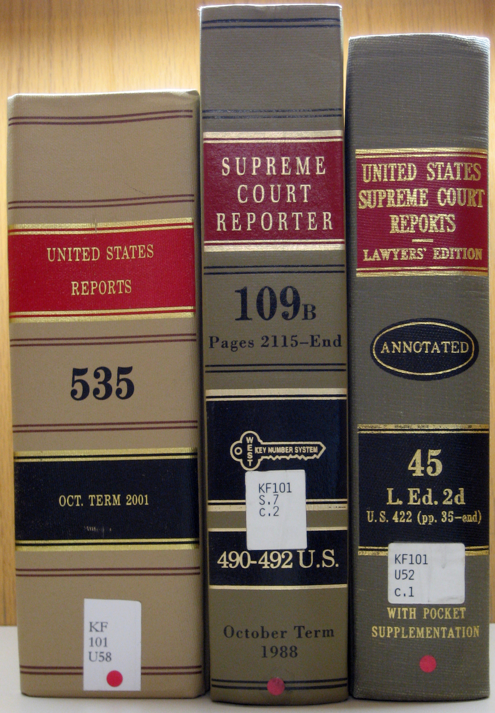Supreme Court reporter books