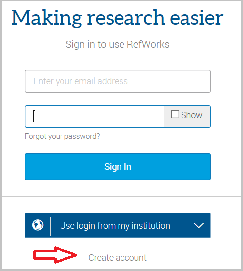"alt=""screenshot from refworks sign up page to create account"""