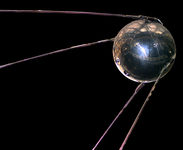 A replica of Sputnik