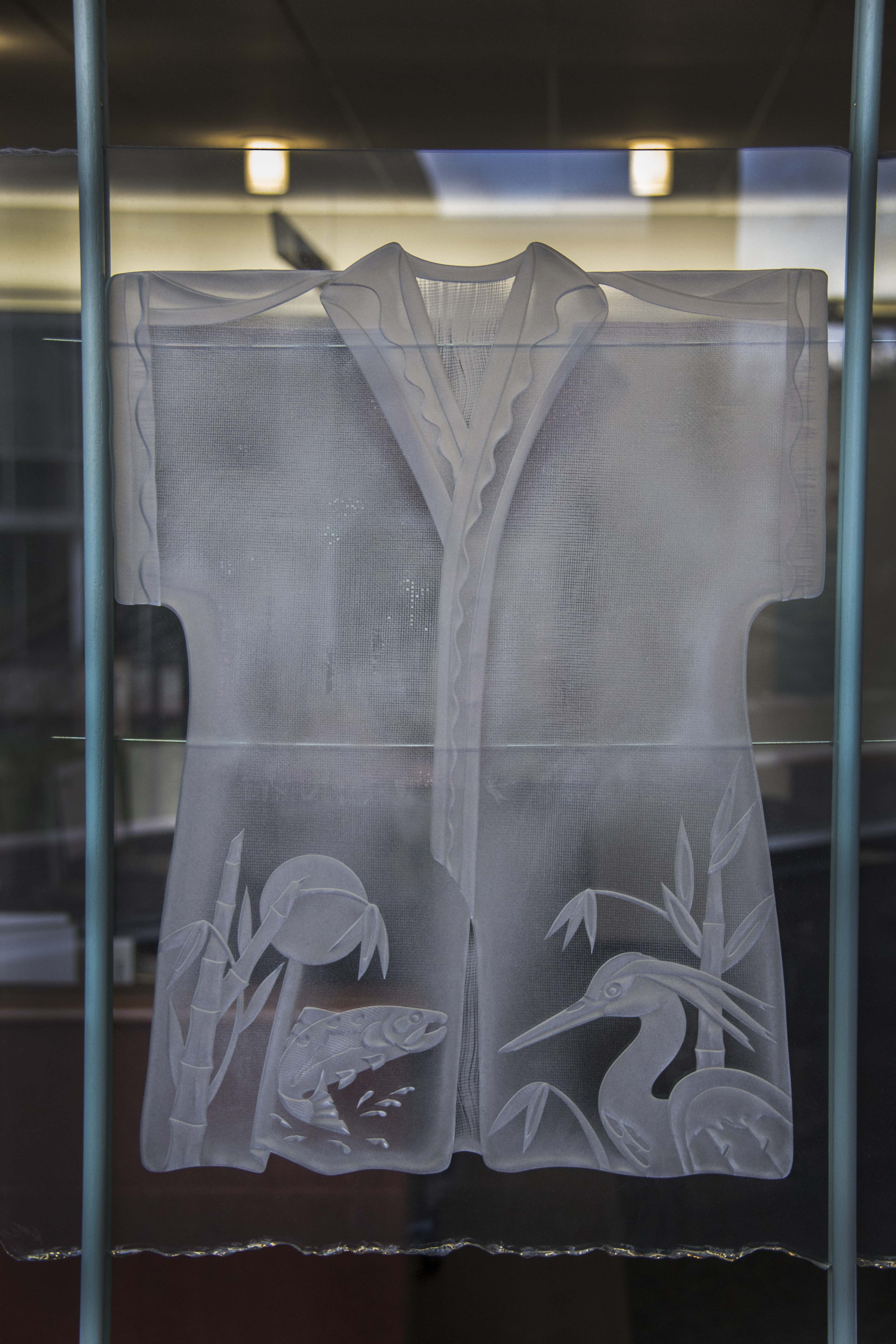 Glass Kimono, broken-edge glass