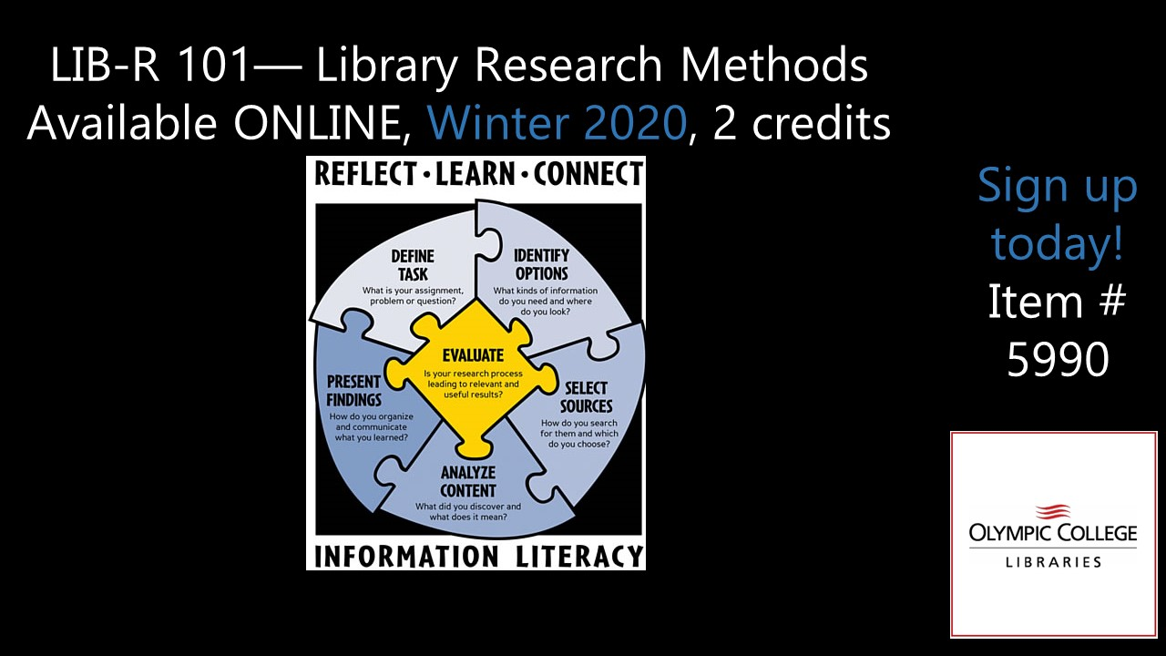 LIB-R101 Library Research Methods Available online