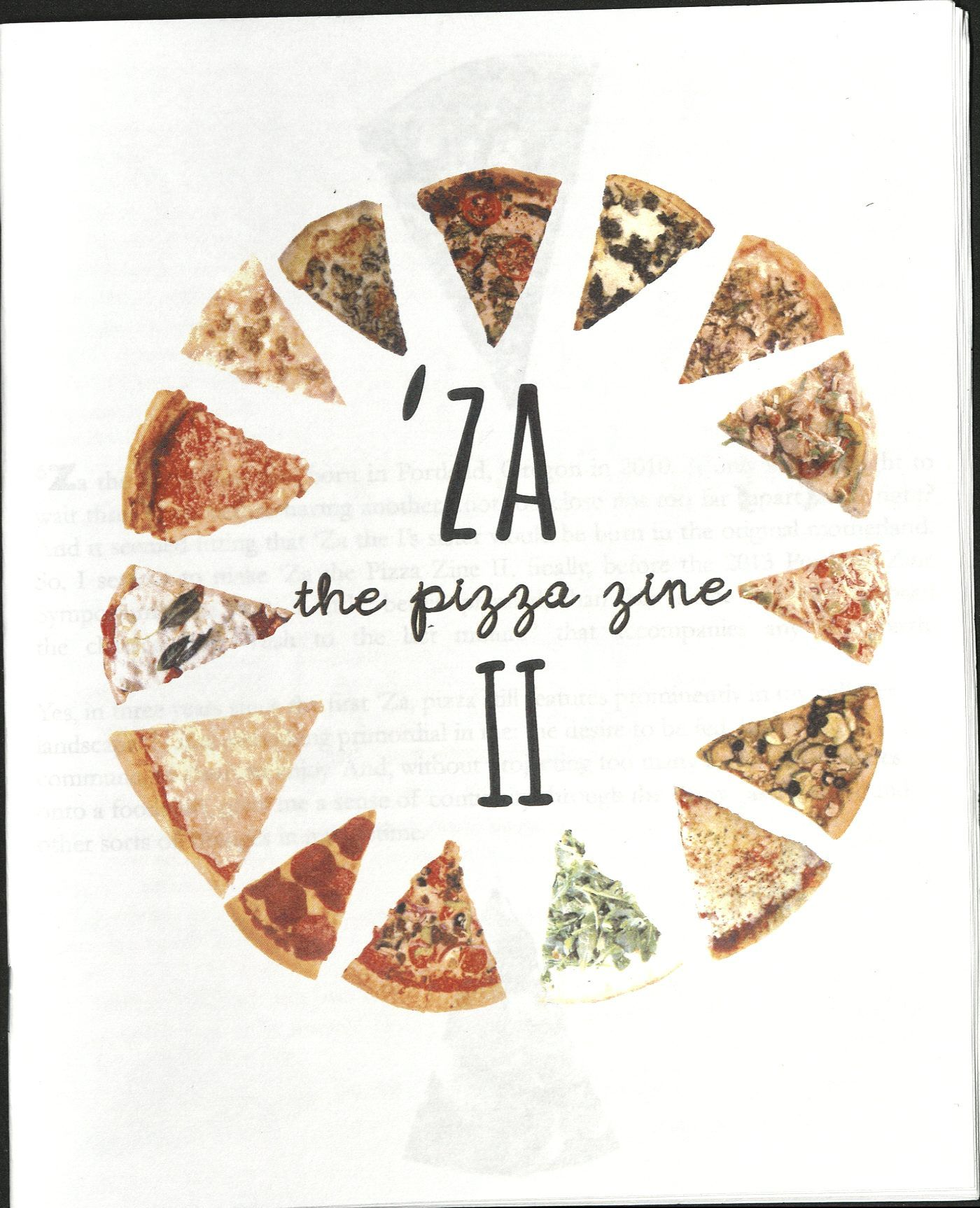 Za the Pizza Zine II