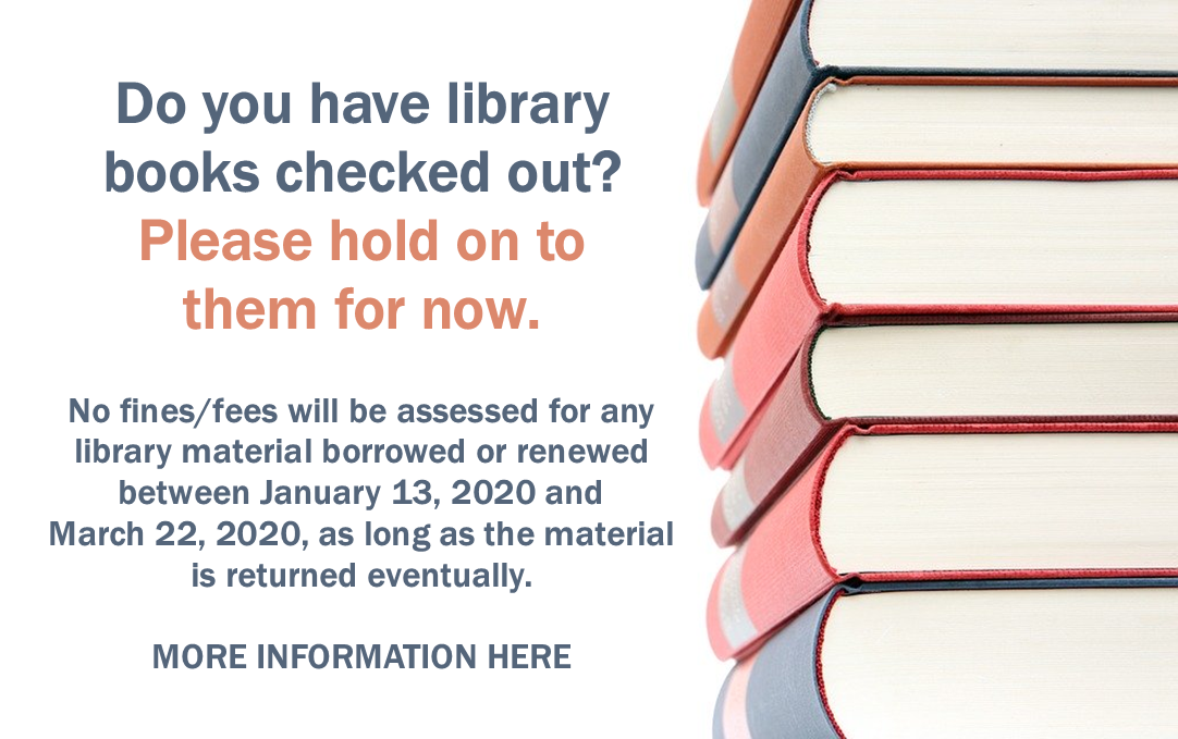 Hold on to any books you have out for now. Click for more information.