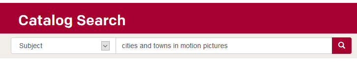 Subject Search for Cities and Towns in Motion Pictures