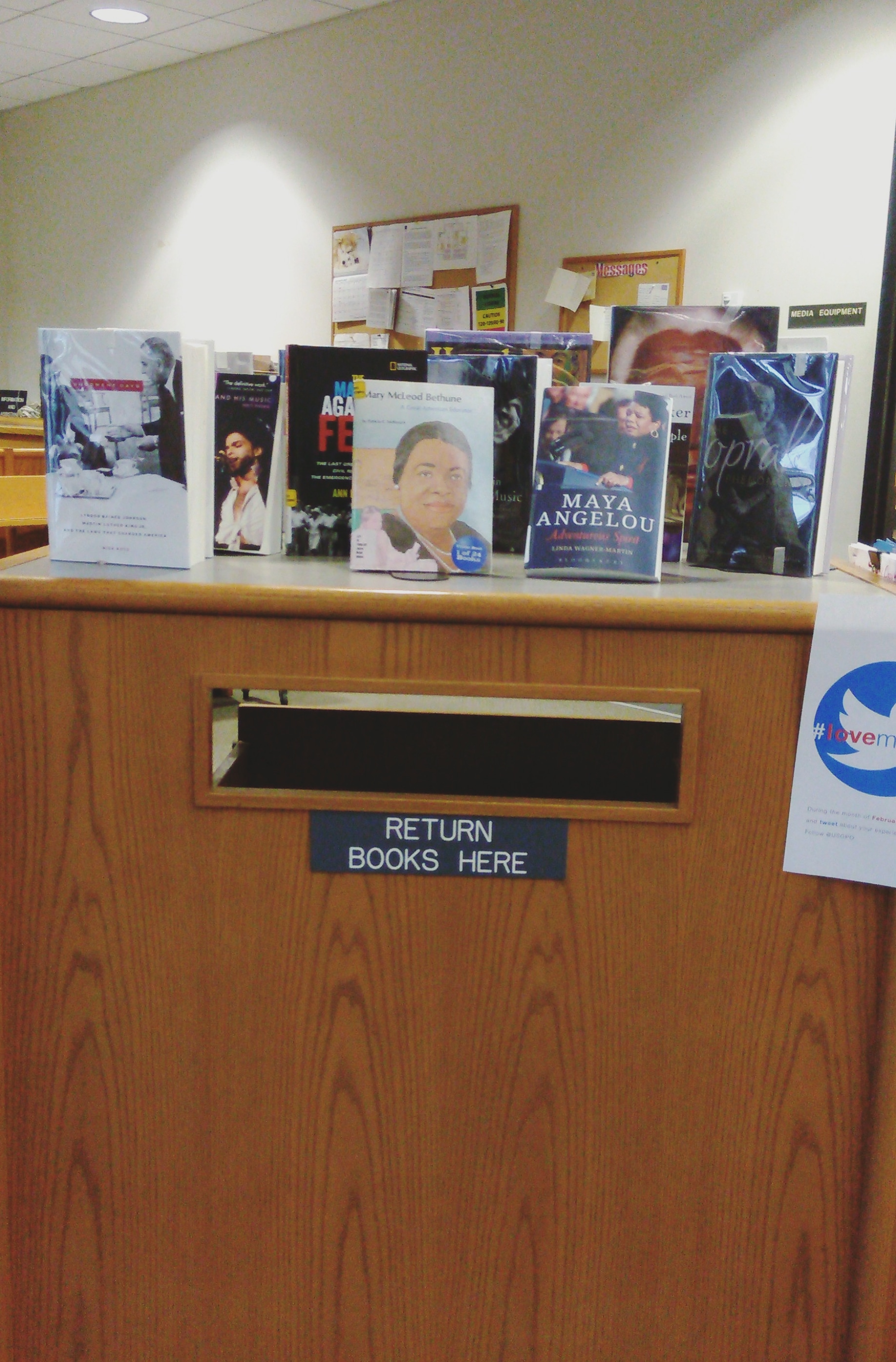 Black History Month display with books
