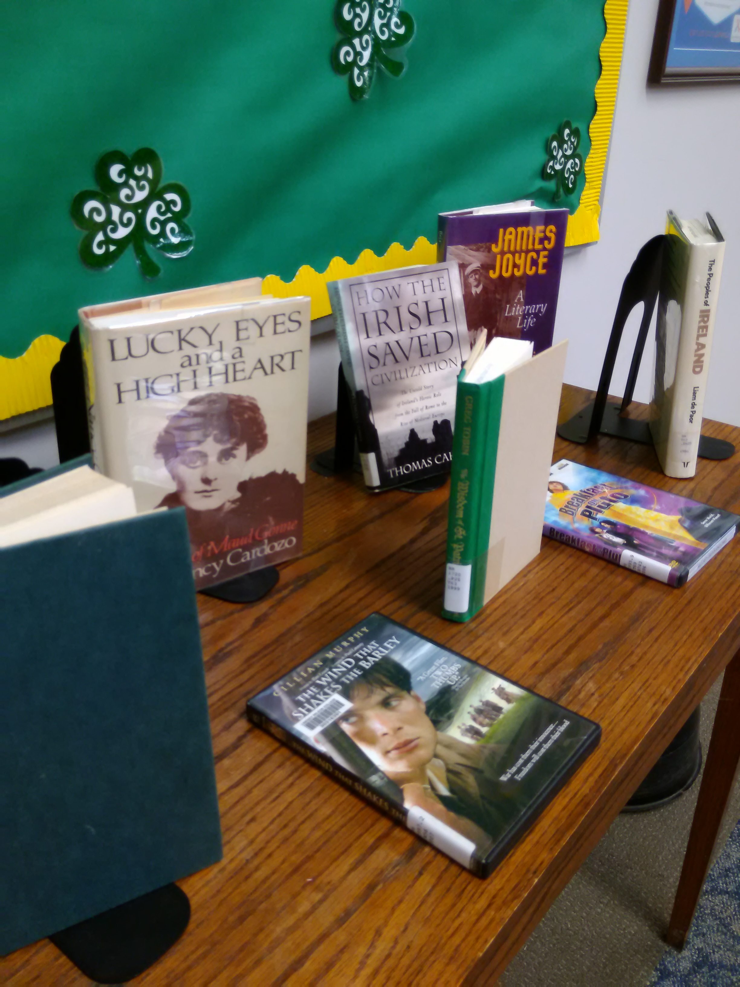 St. Patrick's Day books displayed from KML collection