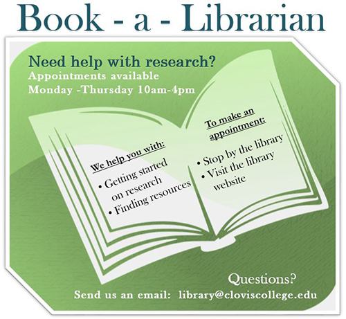 Book A Librarian Flyer