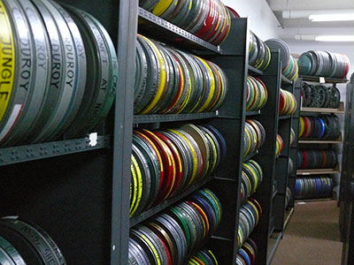 Image of 16mm Collection in Film Vault.