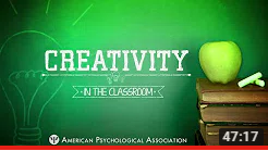 Video image from Creativity in the classroom