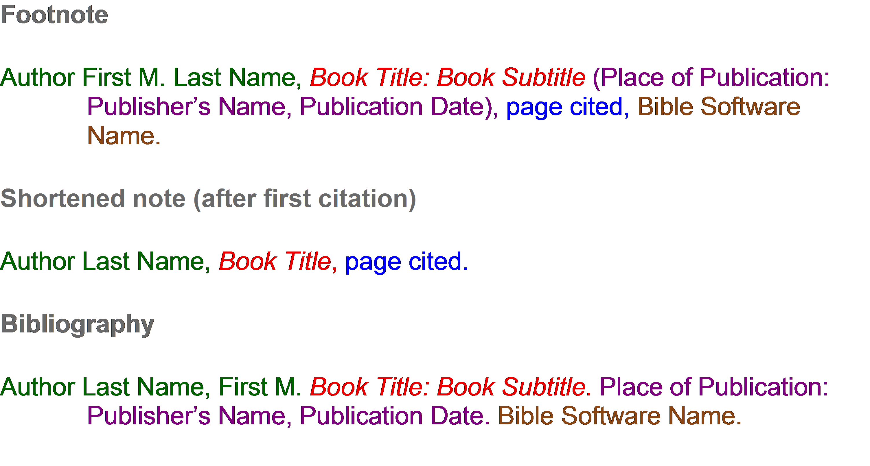 Bible Software Example