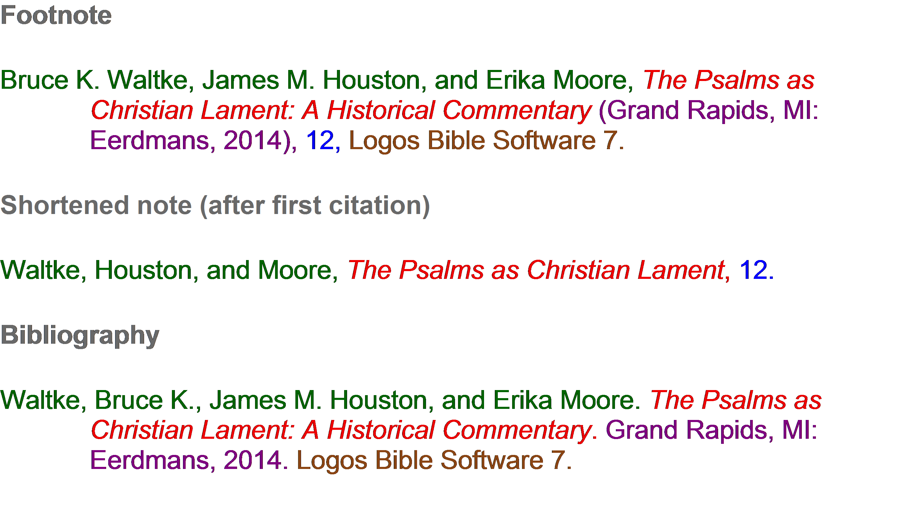 Logos Bible Software Example