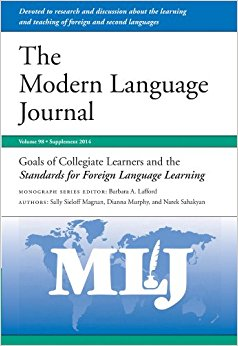 Cover for the Modern Language Journal