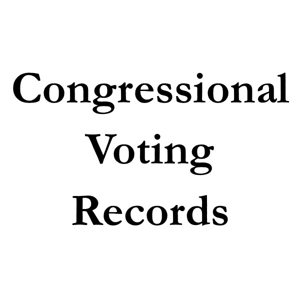 Congressional Voting Records (black text on white ground)