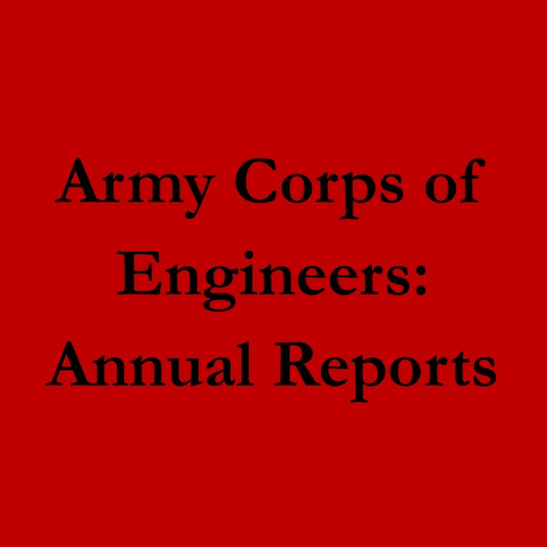 Army Corps of Engineers: Annual Reports (black text on red ground)