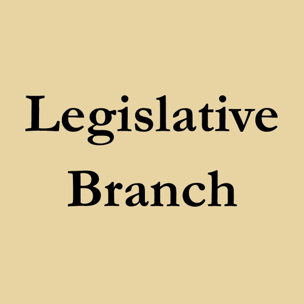 legislative branch (black text on gold ground)
