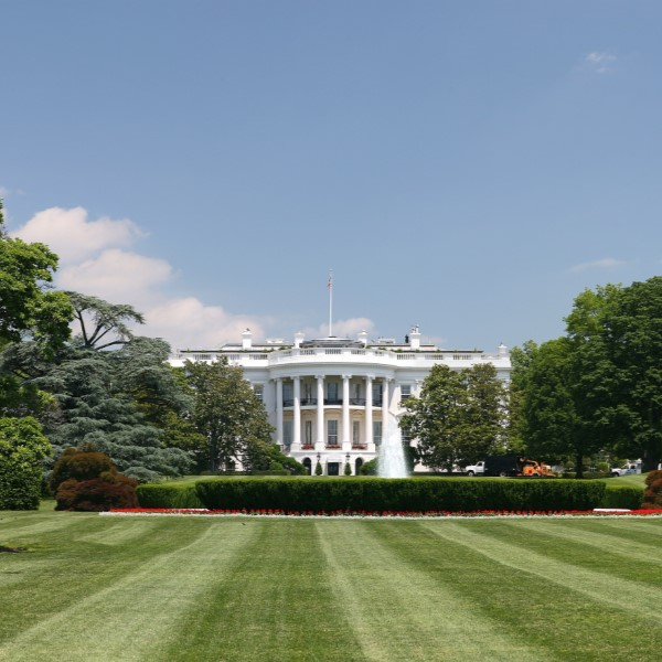 The White House on a sunny day.