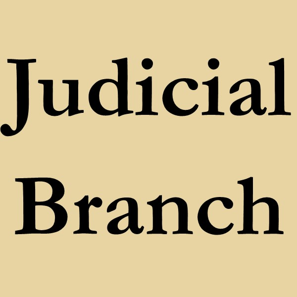 Judicial Branch (black text on white ground)