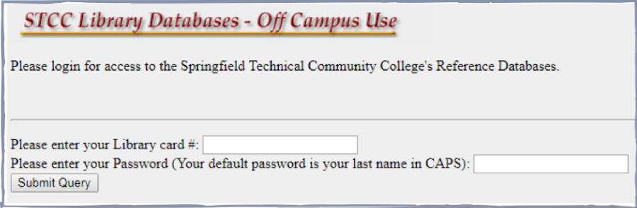 picture of off campus log in screen