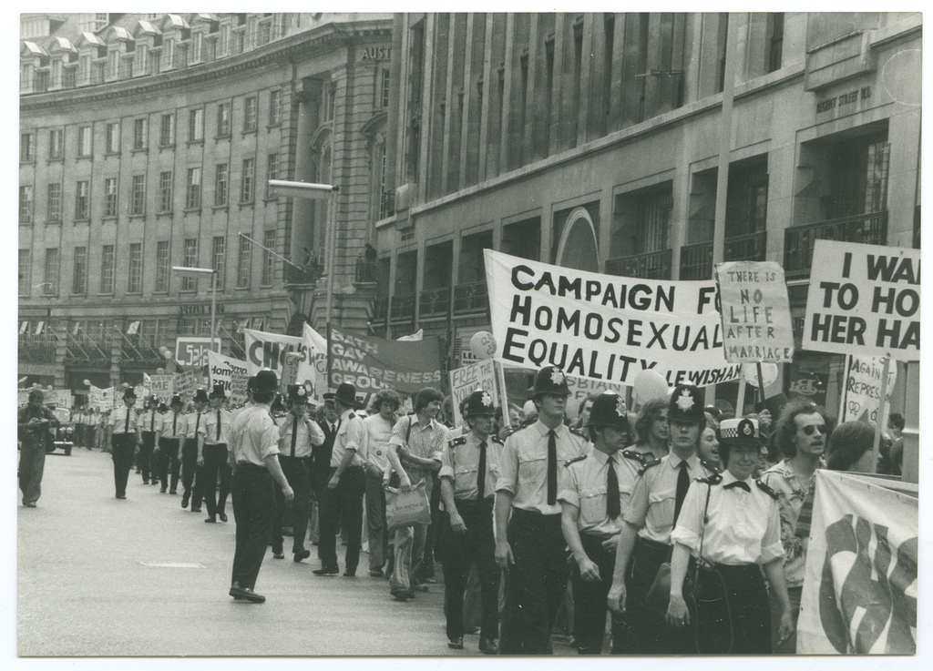 Gay Pride March, London 1974