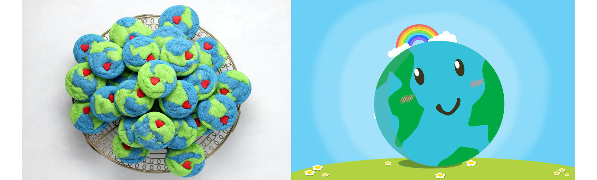 Earth Day Cookies and Happy Globe