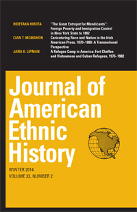 Cover of the Journal of American Ethnic History.