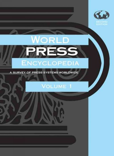 Cover of the World Press Encyclopedia, Volume 1.