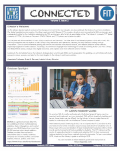 Connected, the FIT library's newsletter