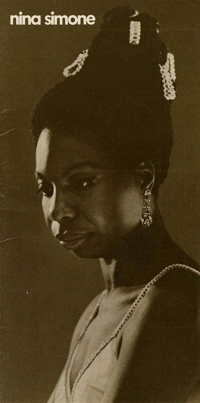 Program for Nina Simone concert