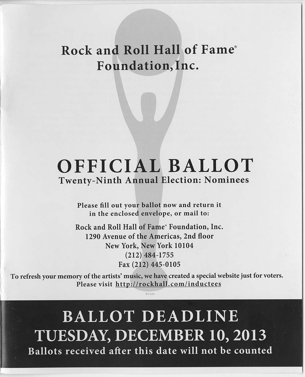 2013 official ballot