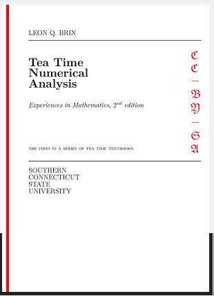 Tea Time Numerical Analysis textbook