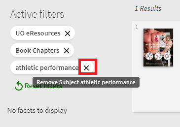 Screenshot show how to remove filters.