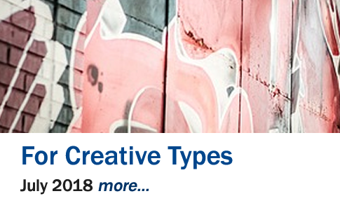 For Creative Types Exhibit, July 2018