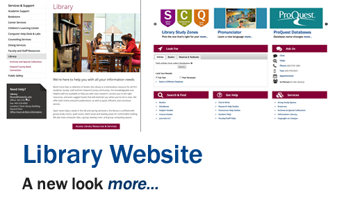 Library Website: A New Look