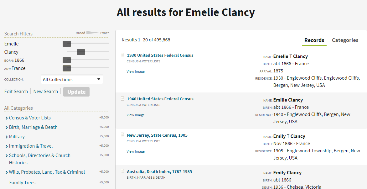 Result for Emelie Clancy