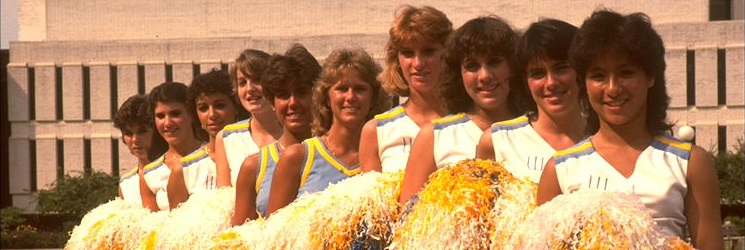 Image of Widener Cheerleaders, 1980s